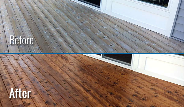 Fox Valley WI Wood Deck Cleaning and Restoration