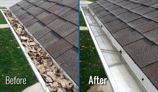 Fox Valley WI Gutter Cleaning (inside)