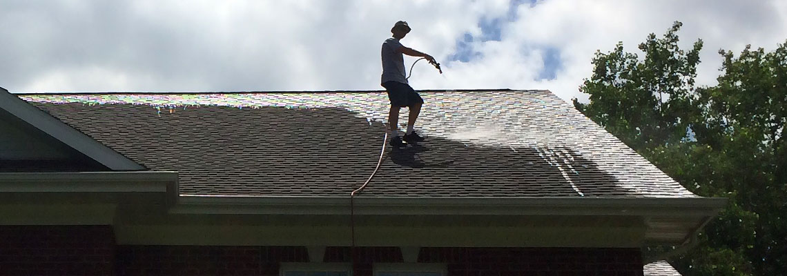 Fox Valley WI Roof Algae Washing