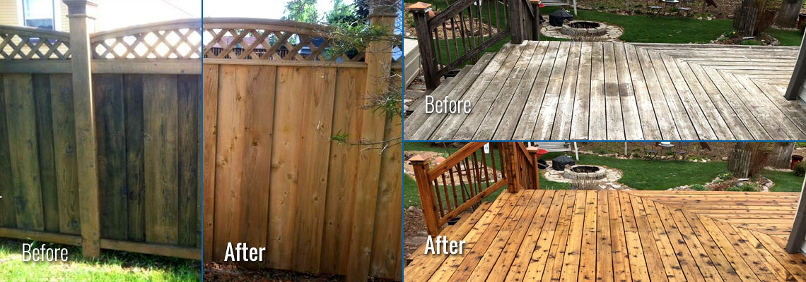 Fox Valley WI Wood Deck and Fence Cleaning, Restoration